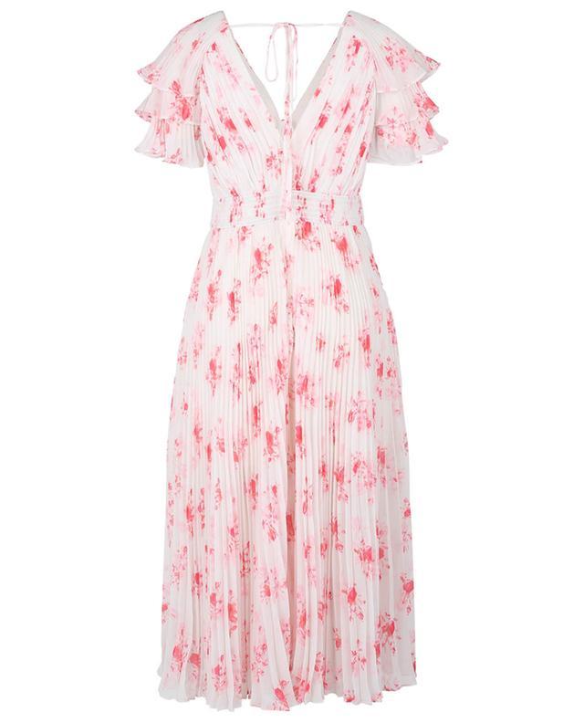 Floral pleated chiffon mini dress SELF PORTRAIT