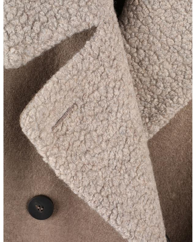 Manteau à boutonnière double en laine détail bouclette Military HARRIS WHARF