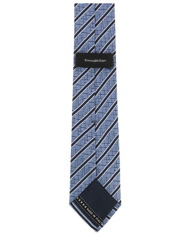 Striped textured silk tie ERMENEGILDO ZEGNA