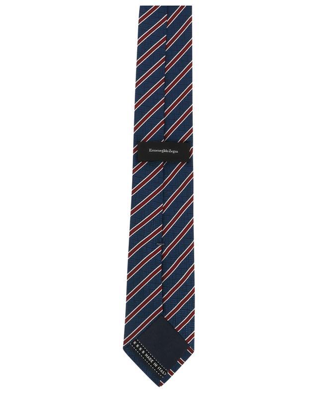 Cravate brillante en soie texturée carreaux ERMENEGILDO ZEGNA