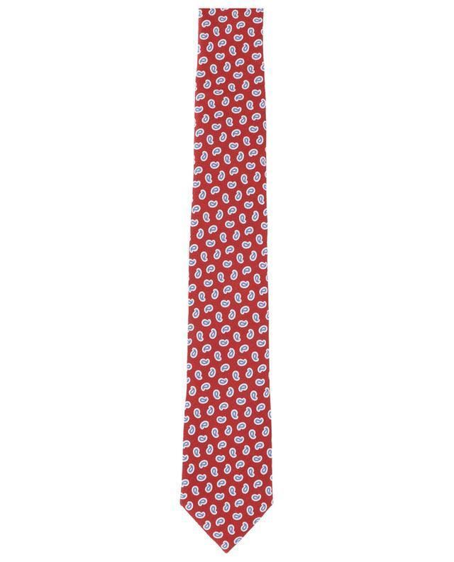 Cravate en soie texturée imprimée détails paisley ERMENEGILDO ZEGNA