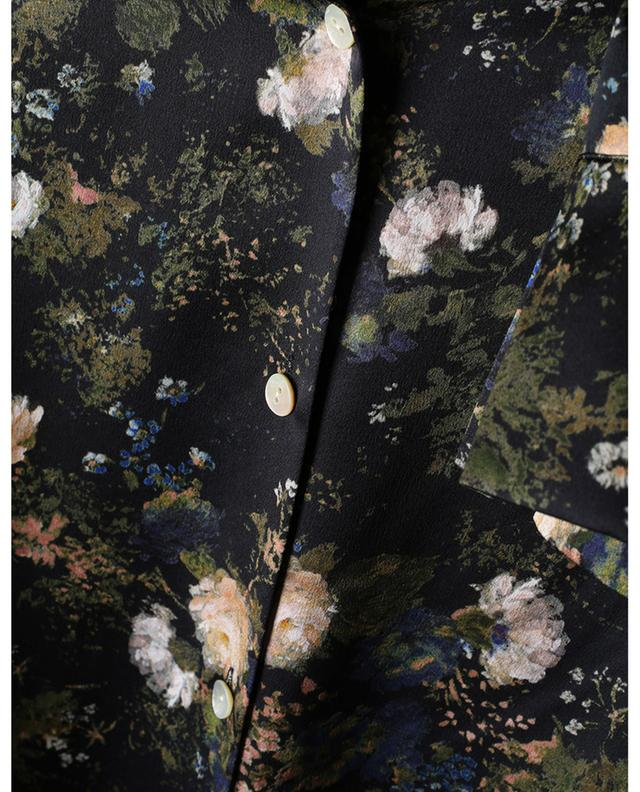 Rose Field printed silk satin blouse VINCE