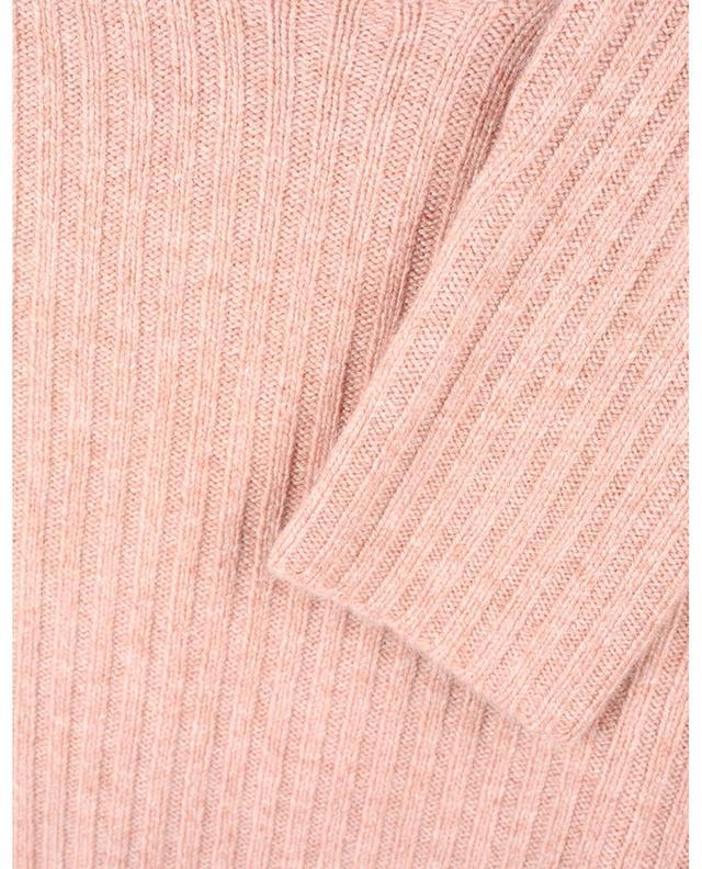 Pull chaussette côtelé à col rond en laine et cachemire VINCE