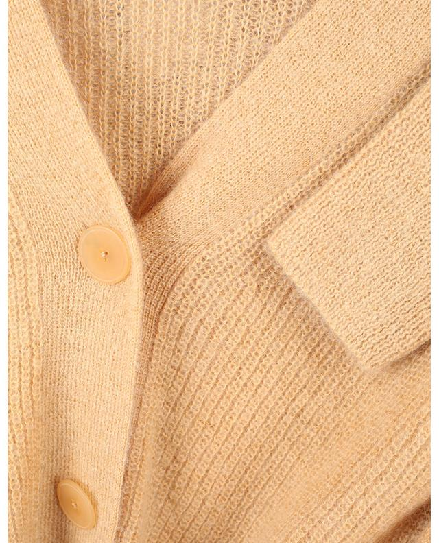 Cardigan boxy boutonné en maille de mohair ajourée VINCE