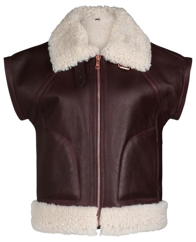Aviator spirit loose lamb shearling vest SEE BY CHLOE