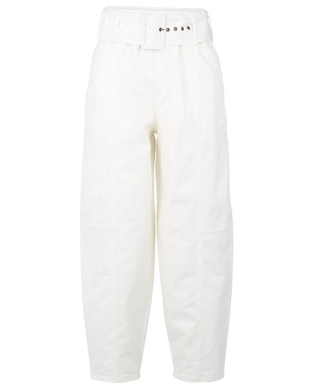 Pantalon chino esprit carotte avec ceinture SEE BY CHLOE