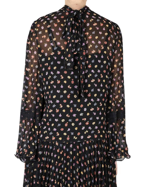 Botanical Flowers floral chiffon necktie blouse SEE BY CHLOE