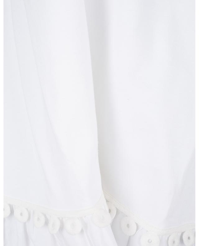 Short poplin and jersey dress embellished with graphic braids SEE BY CHLOE