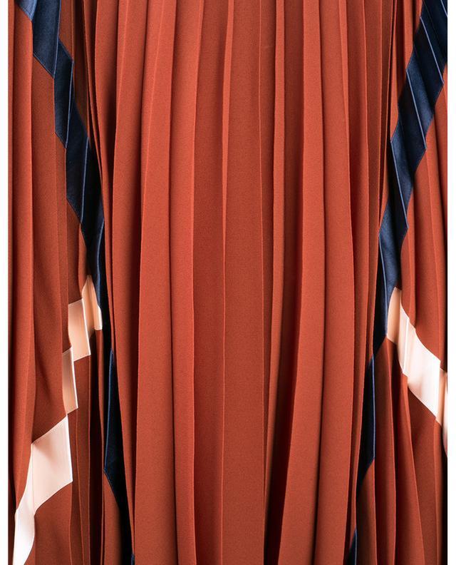 Jupe plissée en georgette brodée de rubans SEE BY CHLOE