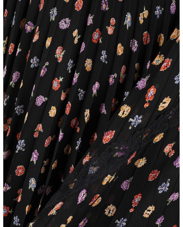Botanical Flowers printed pleated georgette midi skirt SEE BY CHLOE