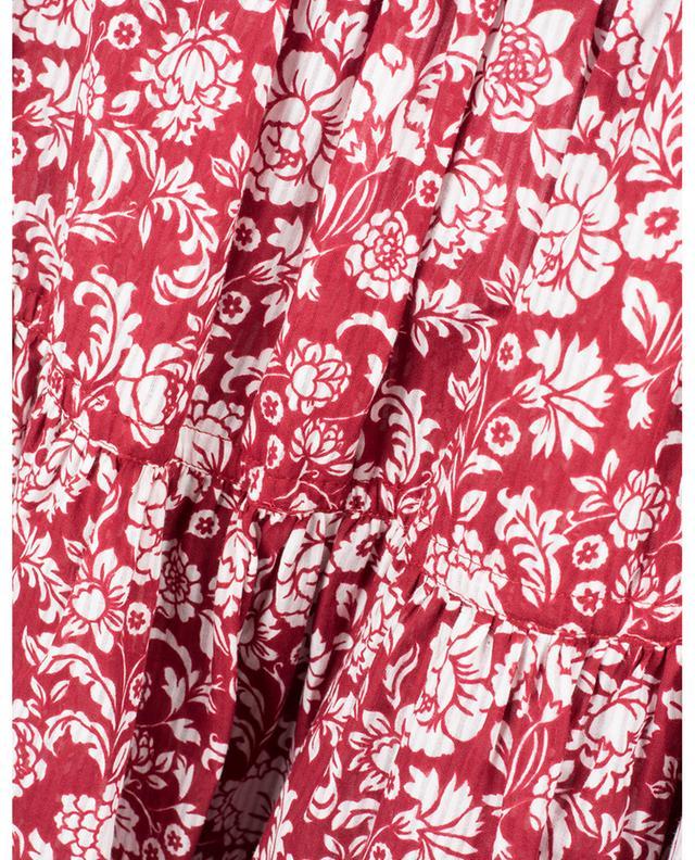 Ausgestellter Minirock aus geblümter Baumwolle Graphic Peonies SEE BY CHLOE