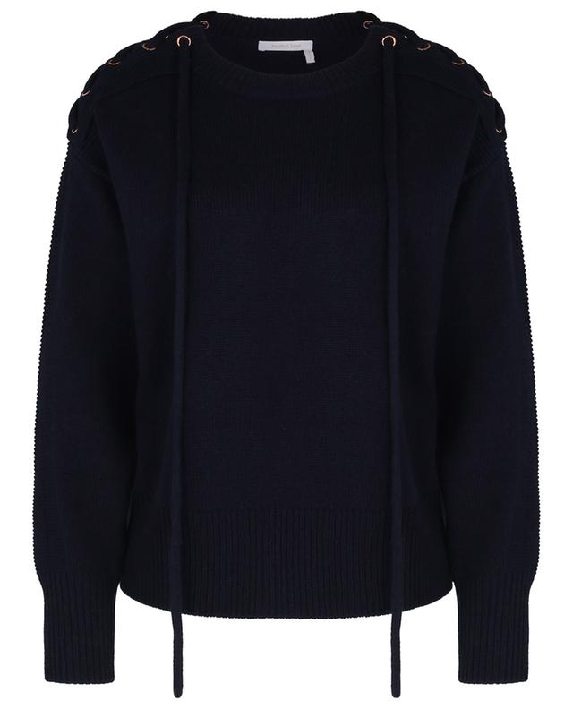 Chunky boxy jumper with shoulder lacing SEE BY CHLOE