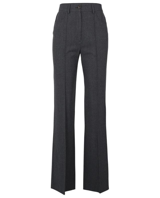 Pantalon taille haute évasé en flanelle City SEE BY CHLOE