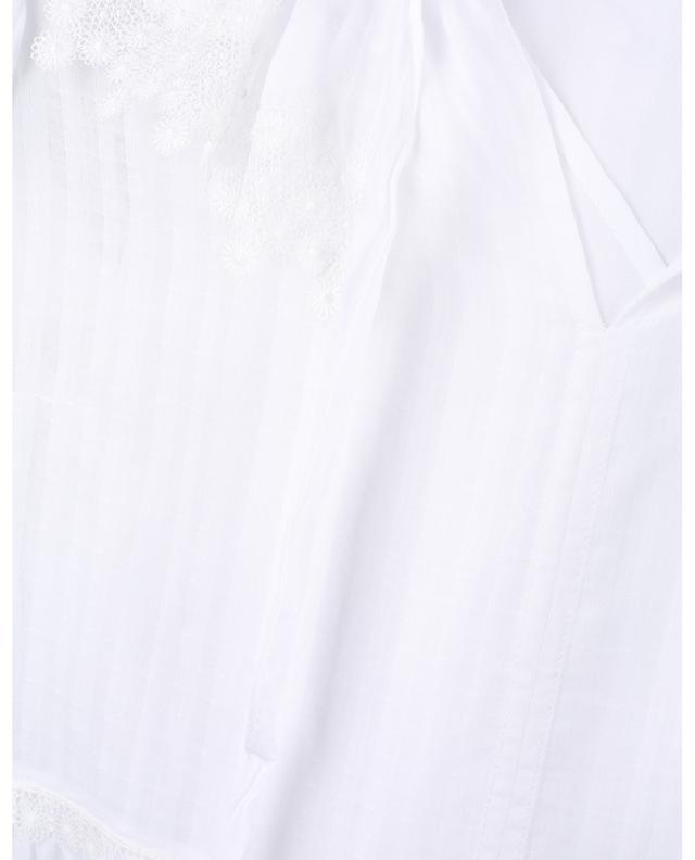 Midilanges Stufenvolantkleid aus Baumwolle und geblümter Spitze SEE BY CHLOE
