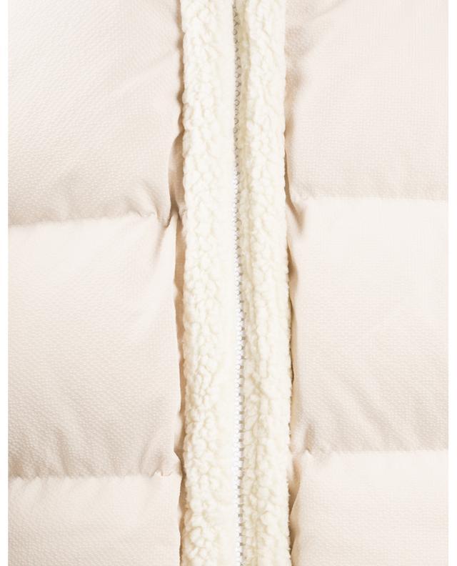 Shearling Short cropped textured nylon down jacket IENKI IENKI