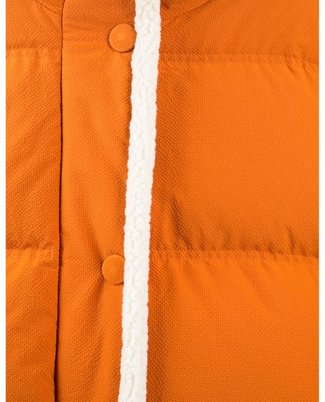 Doudoune oversize en nylon texturé et peau lainée Michlin IENKI IENKI