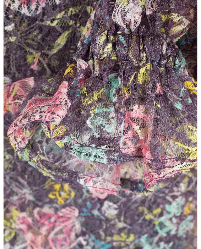 Top en dentelle fleurie imprimé Agnes Dark Purple ROTATE BIRGER CHRISTENSEN