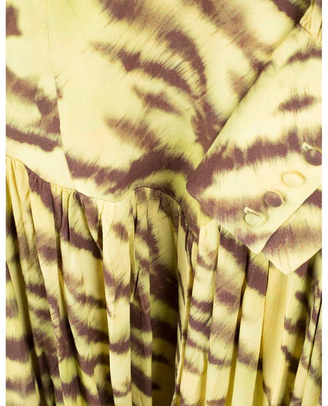 Minirobe en crêpe imprimée Alison Tiger AOP Muted Lime ROTATE BIRGER CHRISTENSEN