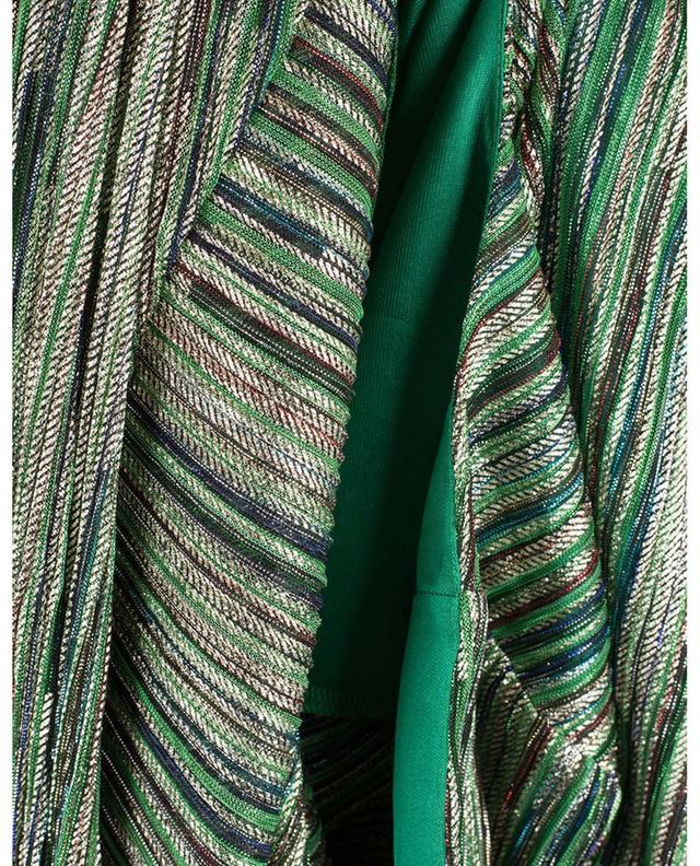 Robe longue en lurex rayé à manches bouffantes Lisa ROTATE BIRGER CHRISTENSEN