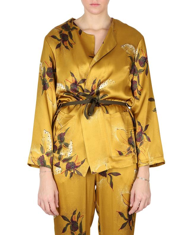 Agnes floral satin jacket TOUPY