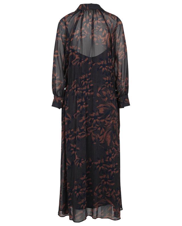 Robe longue en mousseline fleurie Swing TOUPY