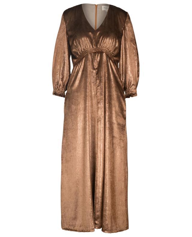 Langes gesmoktes Satin-Kleid Valse TOUPY