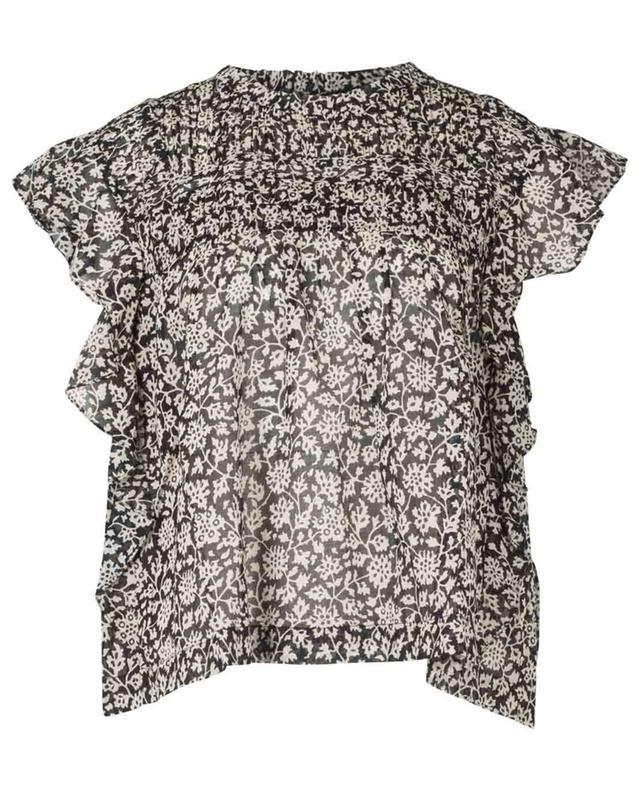Kurzärmliges Top aus feiner Baumwolle Layona ISABEL MARANT