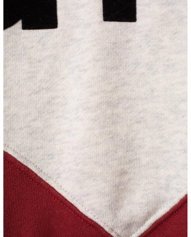 Houston bicolour boxy sweatshirt with logo print ISABEL MARANT