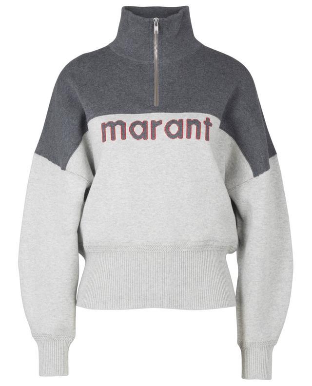 Pull col montant en coton et laine mélangés Linn ISABEL MARANT