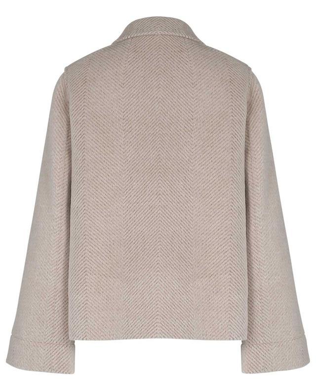 Veste caban oversize en laine et alpaga motif chevrons WINDSOR