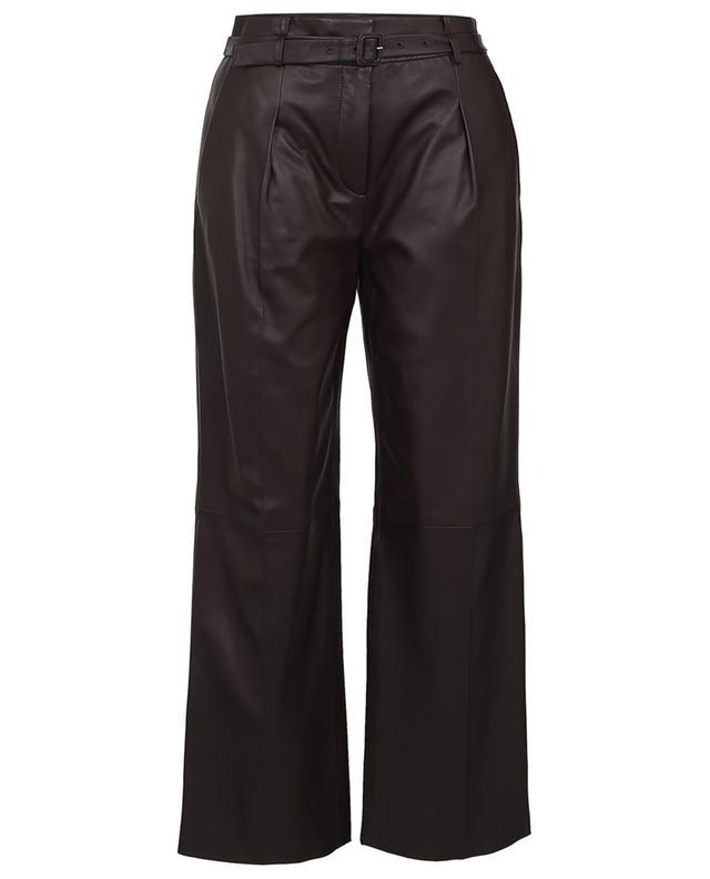 Pantalon raccourci large en cuir WINDSOR