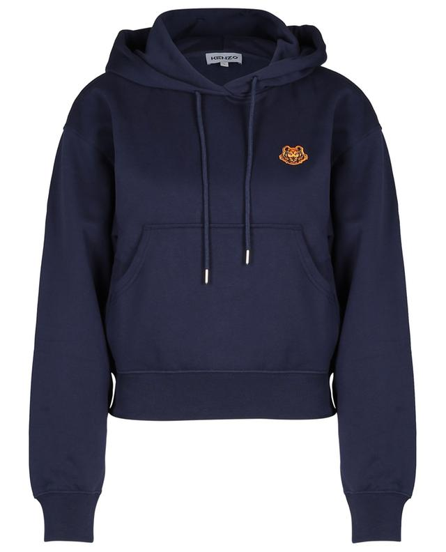 Sweat-shirt à capuche boxy brodé patch Tiger Crest KENZO