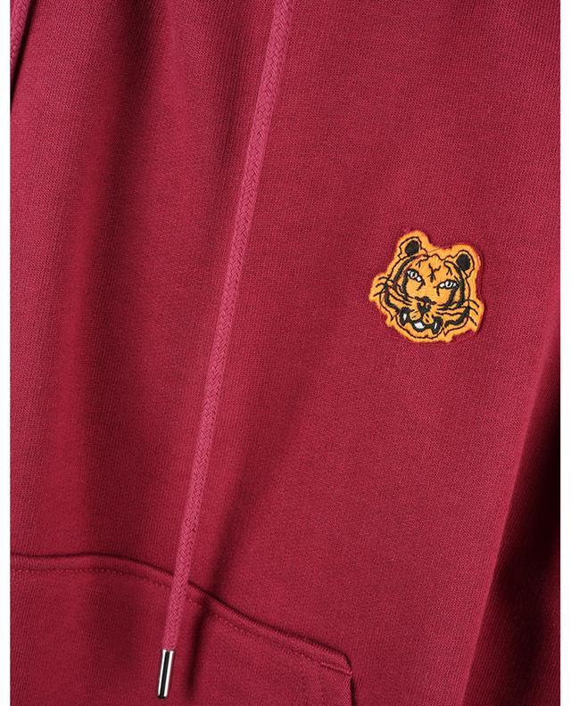 Sweat-shirt à capuche boxy brodé patch Tiger Crest KENZO
