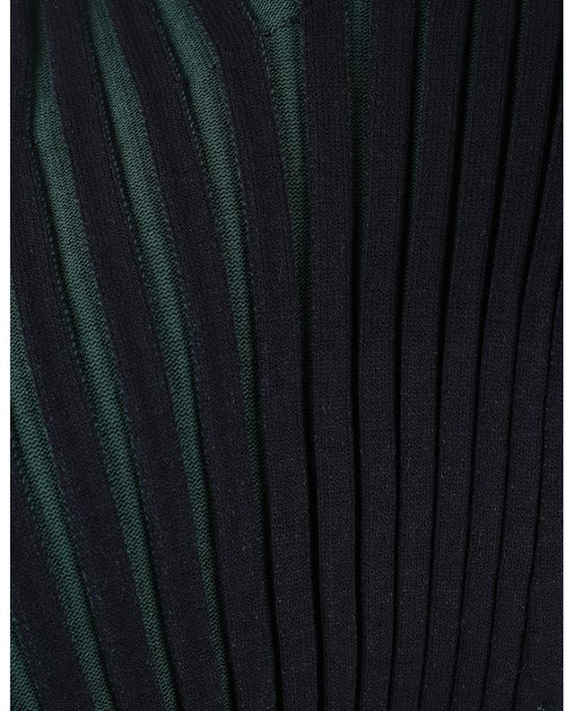 Débardeur en maille côtelé effet plissé bicolore KENZO