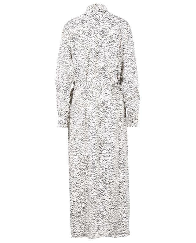 Robe chemise longue en viscose imprimée Leopard KENZO