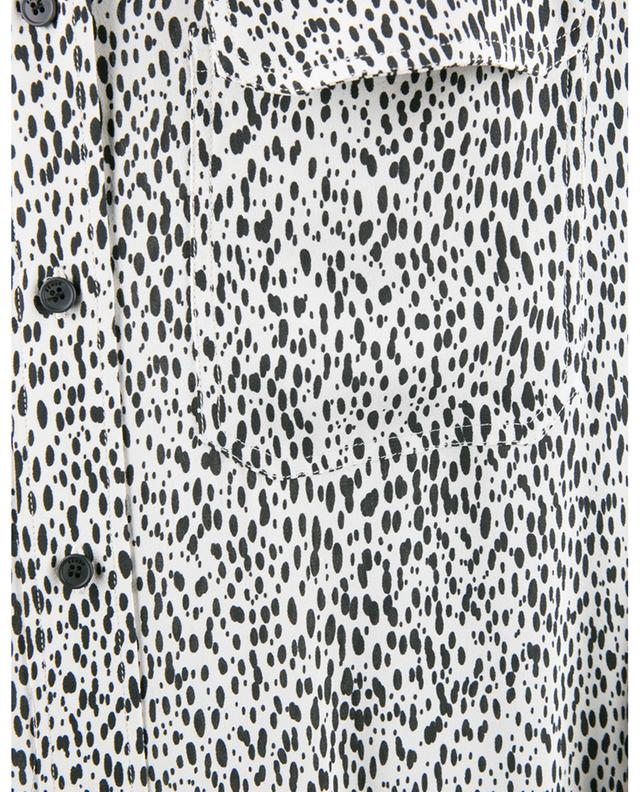 Langes Hemdkleid aus Viskose mit Print Leopard KENZO