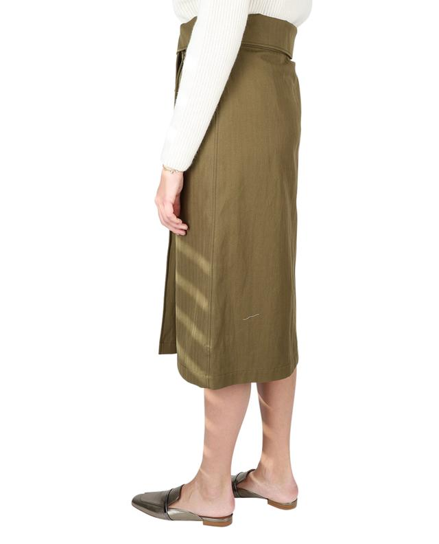 Cotton and linen mid-length wrap skirt KENZO