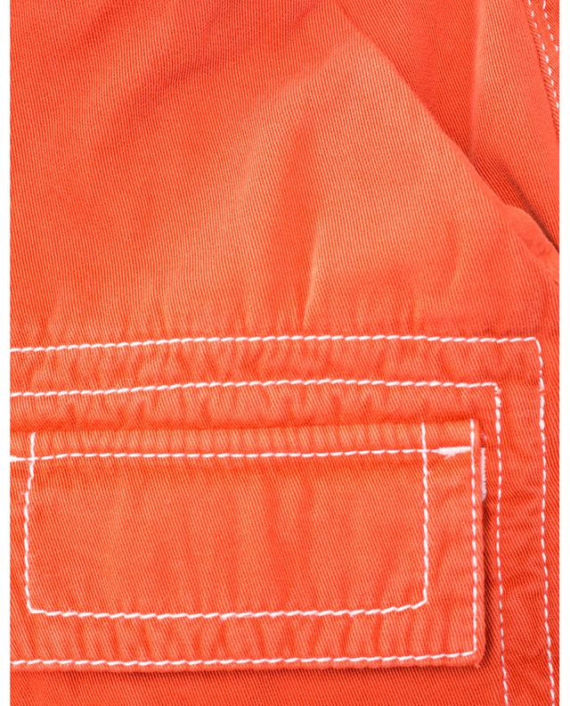 Cotton mini skirt with decorative stitches KENZO