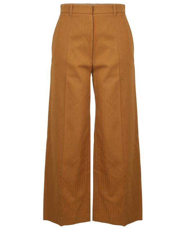 Cotton and linen cropped trousers KENZO