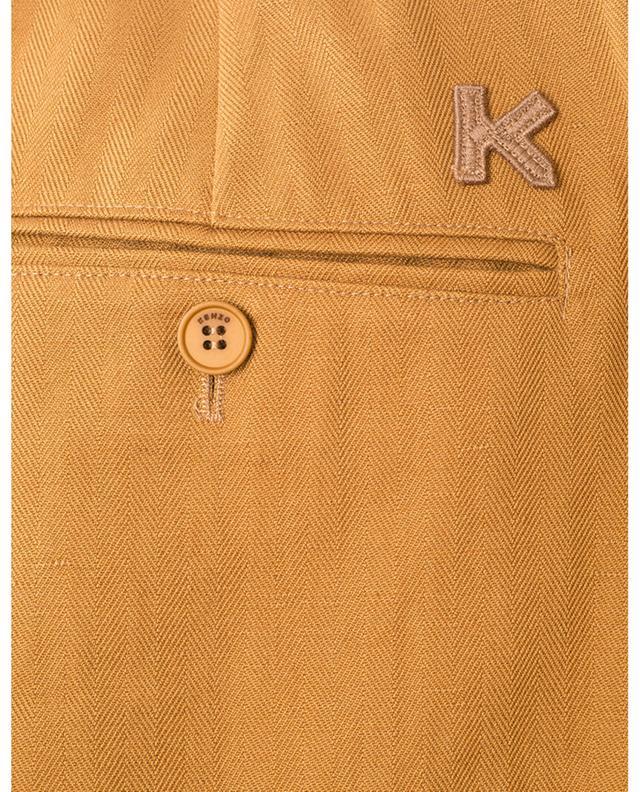 Pantalon raccourci en coton et lin KENZO