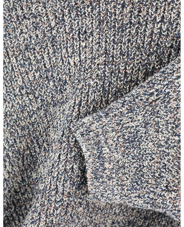 Pull raccourci à manches courtes en coton mouliné KENZO
