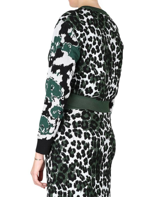 Viscose and cotton blend cropped jumper KENZO