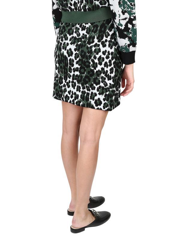 Minijupe en jacquard Leopard KENZO