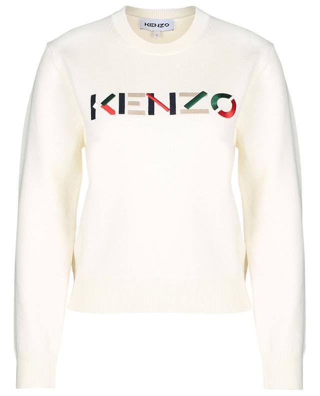 Pull fin en laine brodé logo graphique KENZO KENZO