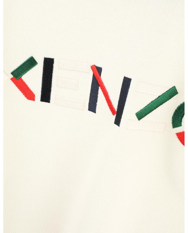 KENZO graphic logo embroidered thin wool jumper KENZO