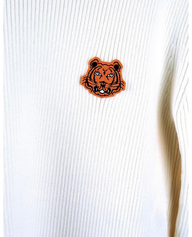 Rollkragenpullover aus Wolle mit Stickerei Tiger Crest KENZO
