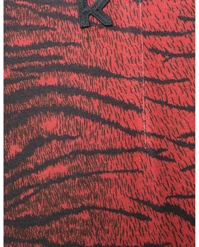 Viscose-blend slim fit tiger stripe trousers KENZO