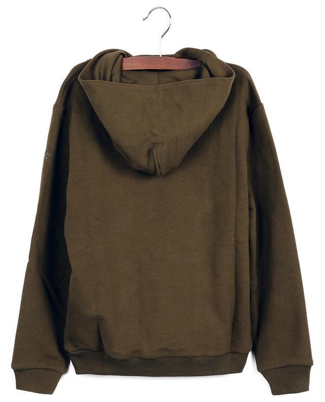 Sweat-shirt à capuche imprimé chevaux de course IL GUFO