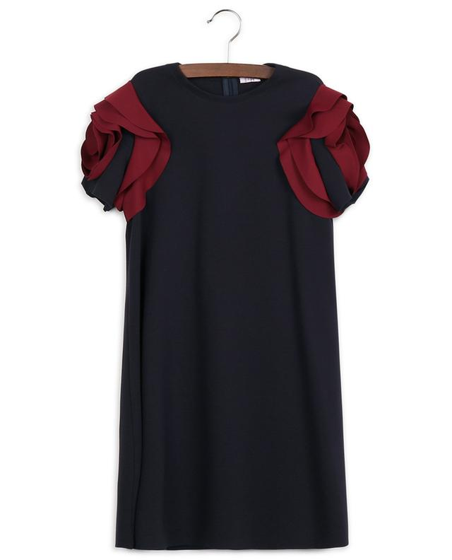 Robe trapèze en jersey Milano à manches courtes fleuries IL GUFO