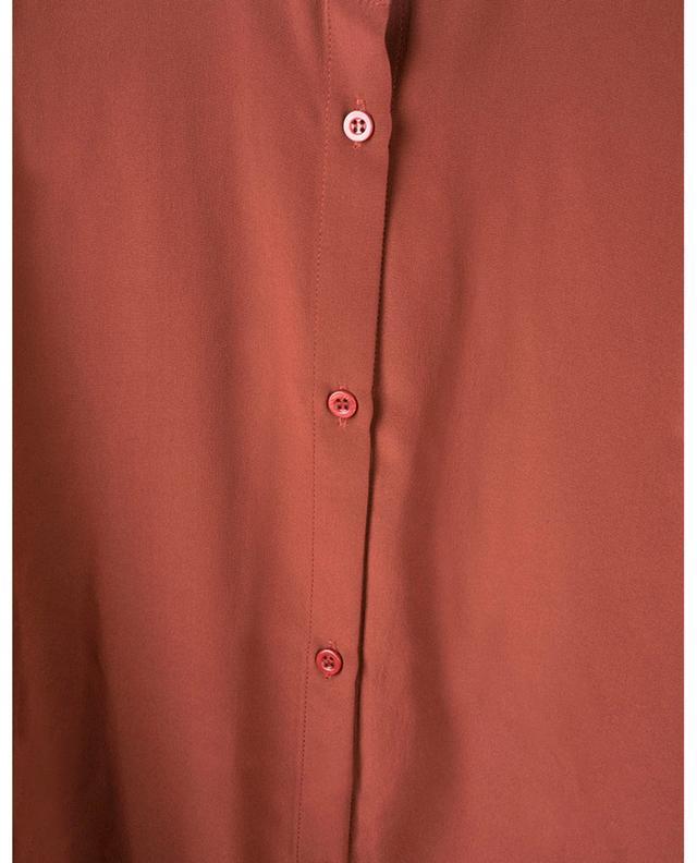 Chemise en soie avec lavallière et volants SLY 010